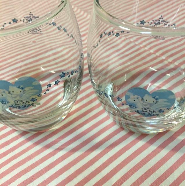 Hello Kitty 25th限量玻璃對杯 #交換最划算