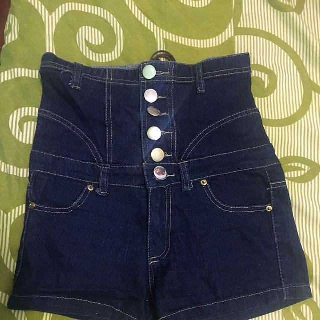 Highwaist Button Hotpant