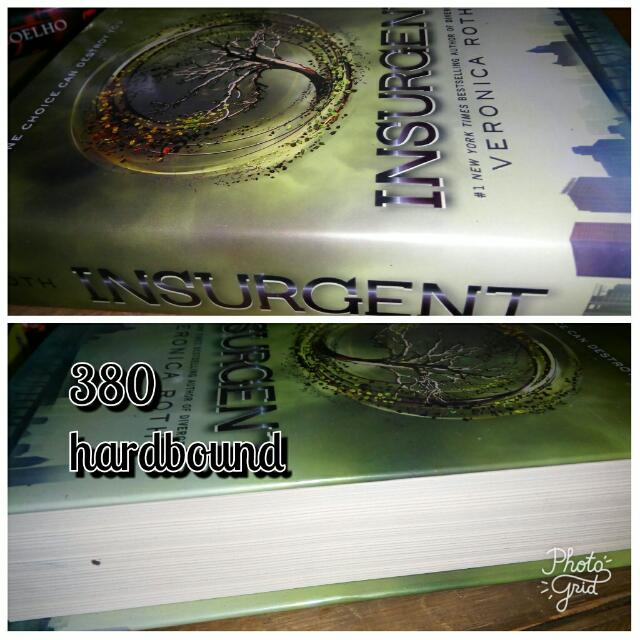 Insurgent Allegiant Hardbound  Book 2&3 Of Divergent