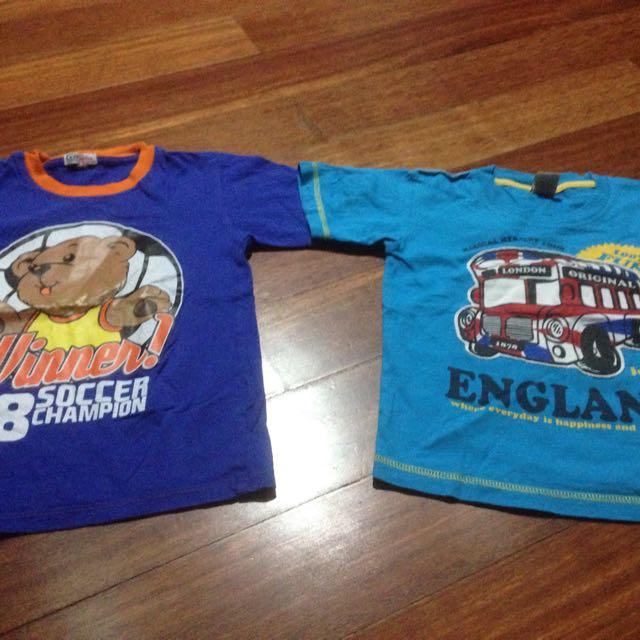 Kaos Anak Size 3 dan 4