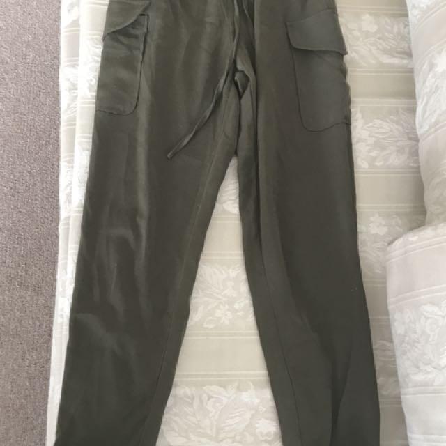 Khaki pants miss guided