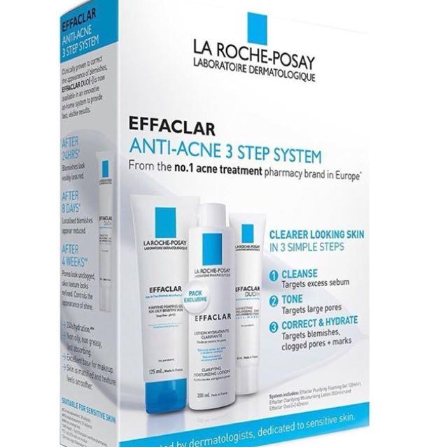 Laroche posay 3 anti acne/blemish system