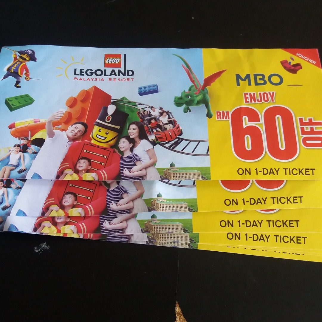 Legoland Rm60 Off Tickets Vouchers Attractions On Carousell Tiket 02 Day Malaysia Combo Theme Park Water Dewasa Photo
