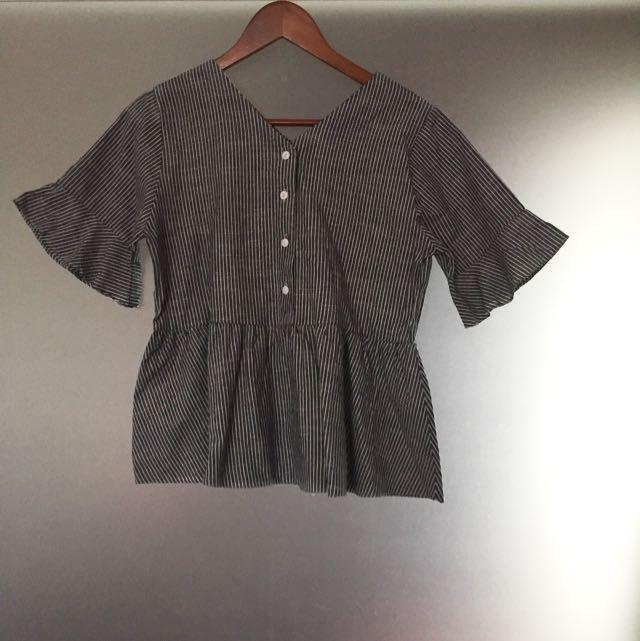 Linen Grey Top