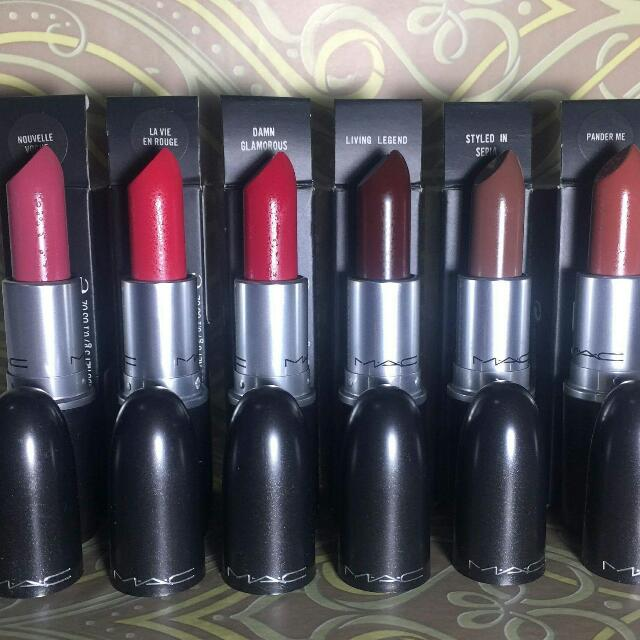 mac limited edition lipsticks(toledo,playland,matte,wash and dry etc)