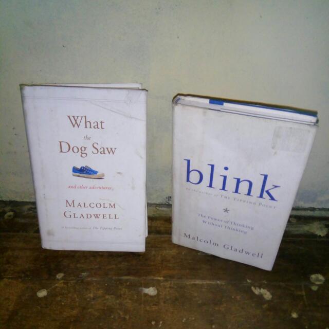 Malcolm Gladwell  Blink What The Dog Saw Hardbound  480 Each