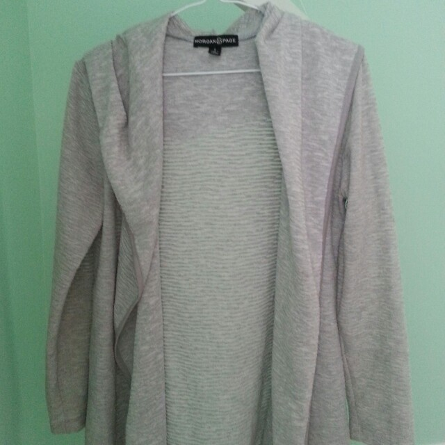 Morgan & Page slouchy hooded cardi size Small