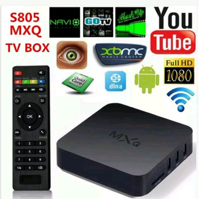 MXQ AMLOGIC QUAD-CORE ANDROID TV BOX WITH PRE-INSTALLED APPS