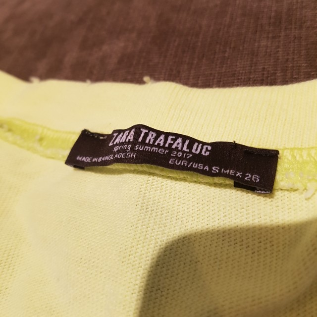 Neon Yellow Zara Sweatshirt
