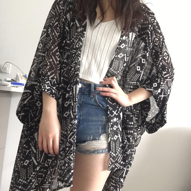 NEW - Printed Kimono (Two for $12)