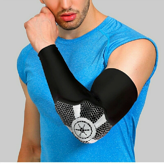 Sports Pad Arm Elbow Brace Guard Strap Volleyball Tennis Protector Support