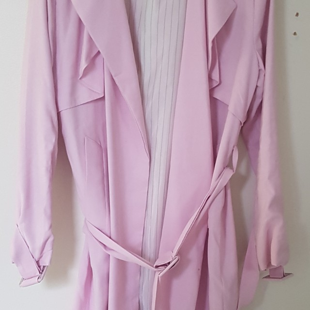 Pink Trench Coat size 10 #100cash