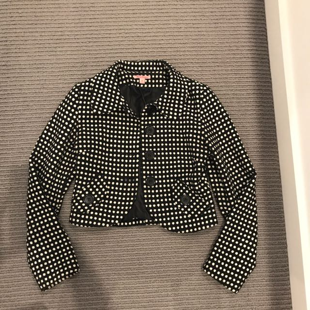 Polka dot jacket size 8