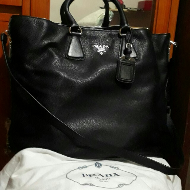 PRADA LEATHER 2 WAY BAG