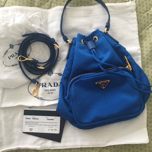 8790702a18b7 ... official authentic prada nylon bucket bag preloved womens fashion bags  wallets on carousell f0d08 fcca1