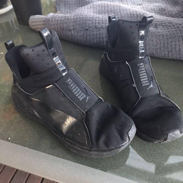 Puma high top shoes