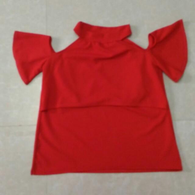 Red fashion nursing top