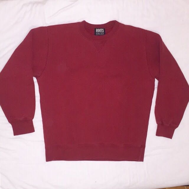 Roots red crew neck