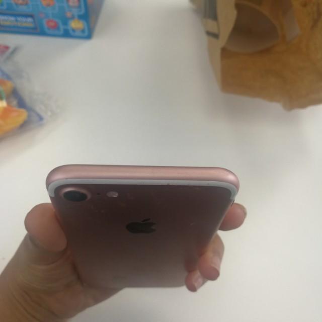 Rose gold iphone 7 265GB