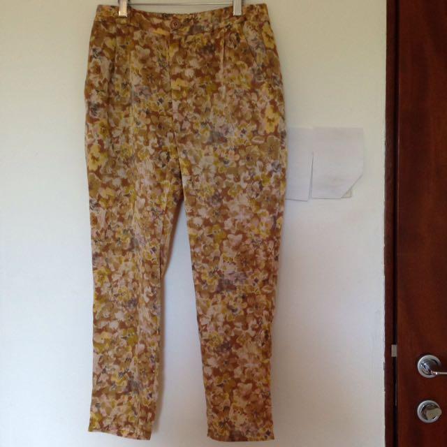 Satin Floral Pants