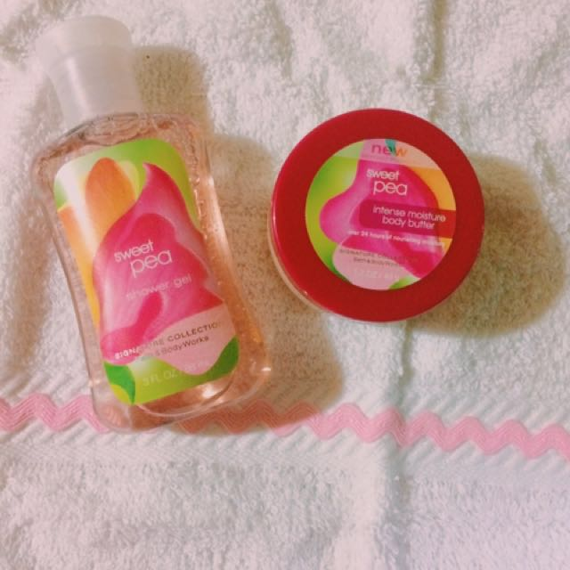 Shower gel and body butter