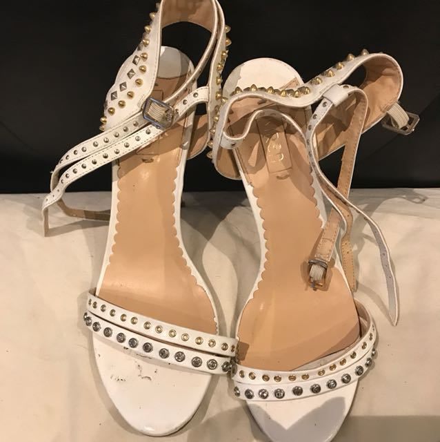 Siren white heels