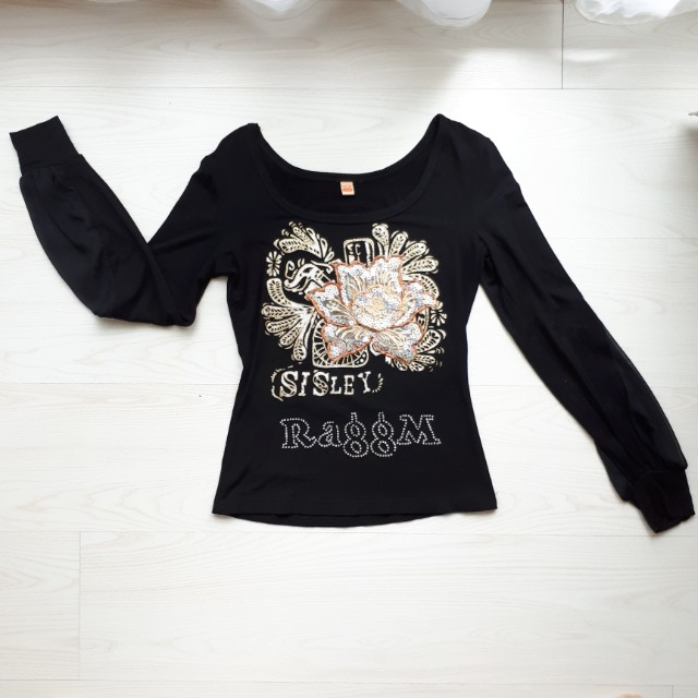 Sisley Flower Embroidery Top