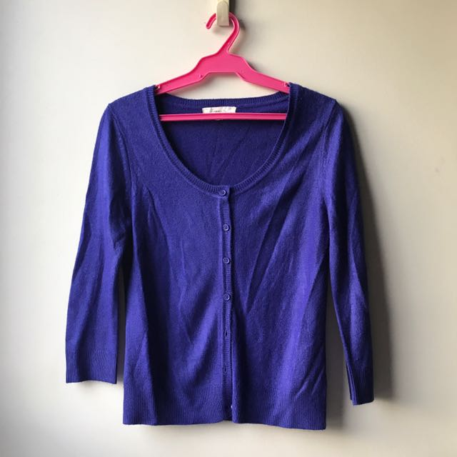 Small F21 Royal Blue Cardigan