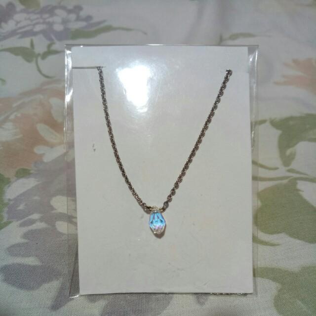 Teardrop Silver Chain Necklace