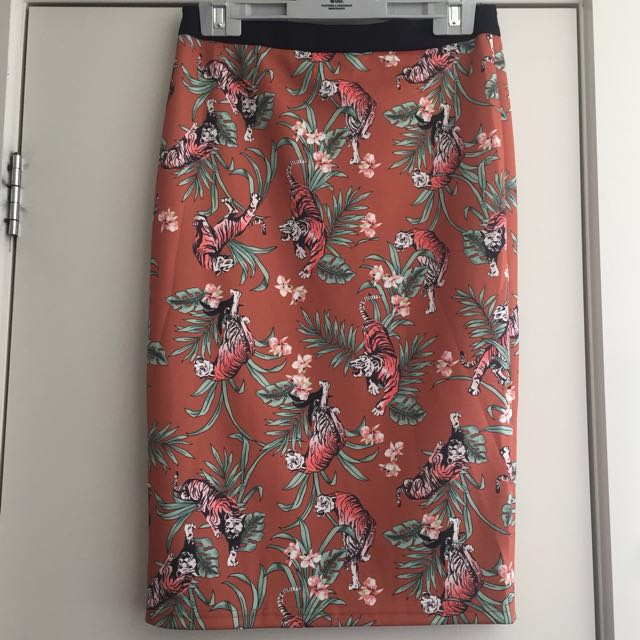 Tiger Pencil Skirt
