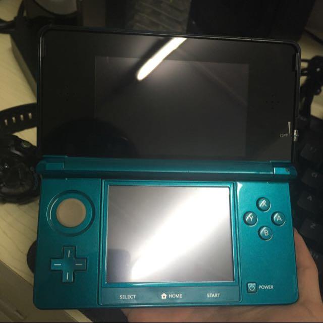 Used 3DS Aqua Blue (modded)