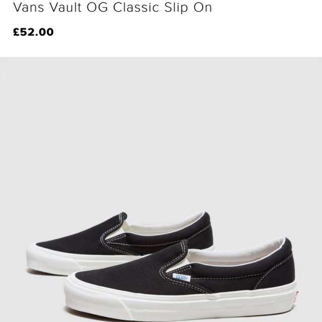 c8ae0f3553f4cd Vans Vault OG Classic Slip On   Vans Authentic Off white