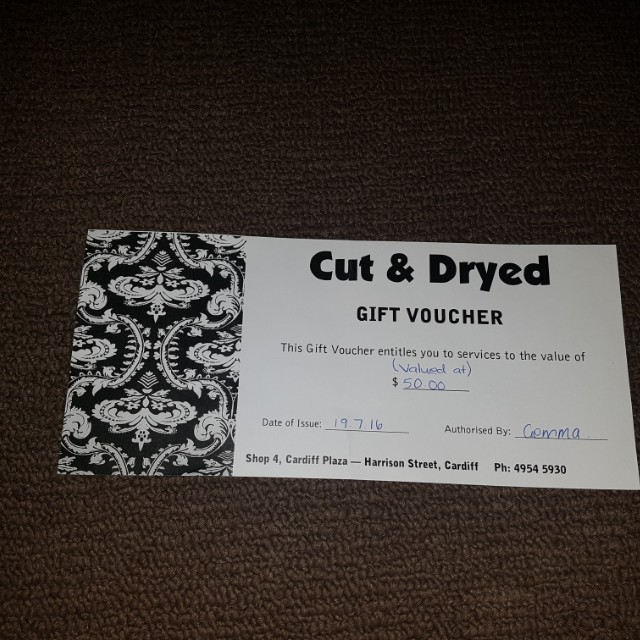 Wallsend cut & dryed gift cert