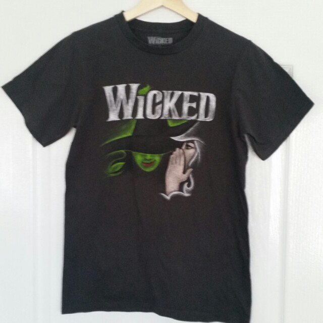 Wicked the Musical OFFICIAL Licensed Tee Shirt Small Broadway Theatre Ladies LE