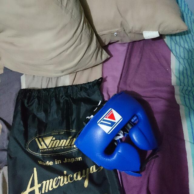 Winning Headgear With Jawstring Bag