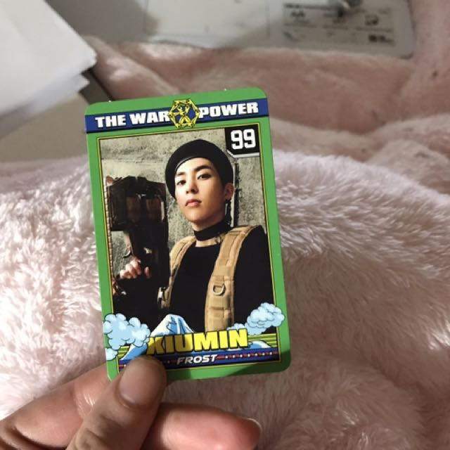 XIUMIN POWER OF MUSIC PHOTOCARD OFFIFICAL
