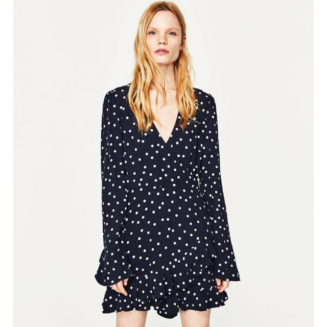 7331cd3a5a Zara Polka Dot Jumpsuit Dress