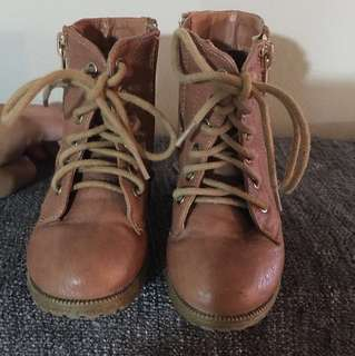 Toddler Combat Boots Size5