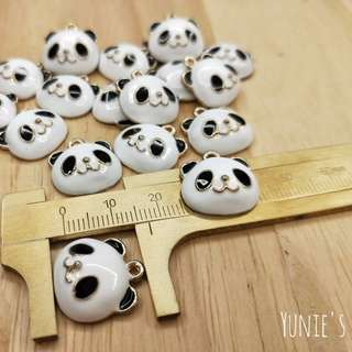 Panda Charms In Gold Metal Diy Jewelry Accessories for Necklace & Bracelet Making 10 pcs/set