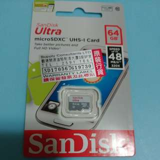 SanDisk Ultra micro SD card 64GB