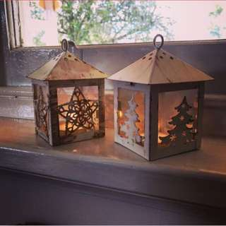 Christmas tea light lanterns