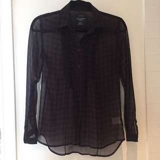Gingham button up shirt size XS