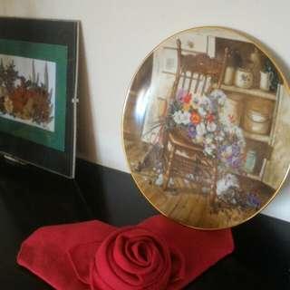 美國裝飾盤花盤