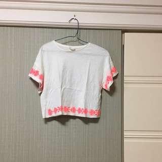 Zara刺繡短版上衣
