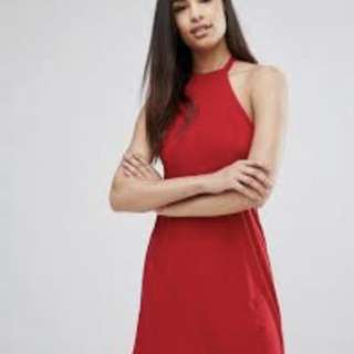 NEW. Backless red dress. Size L. ASOS
