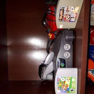 N64 + CABLES/CONTROLLERS/GAMES