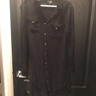 Aritzia Black Cardigan/Dress Size XS