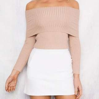 Size 6 - Off The Shoulder knitted top