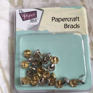 Paper craft brads from the paper mill gold silver