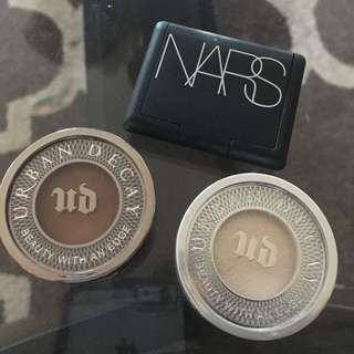LIMITED TIME OFFER *** 2 urban decay eyeshadows and NARS blush